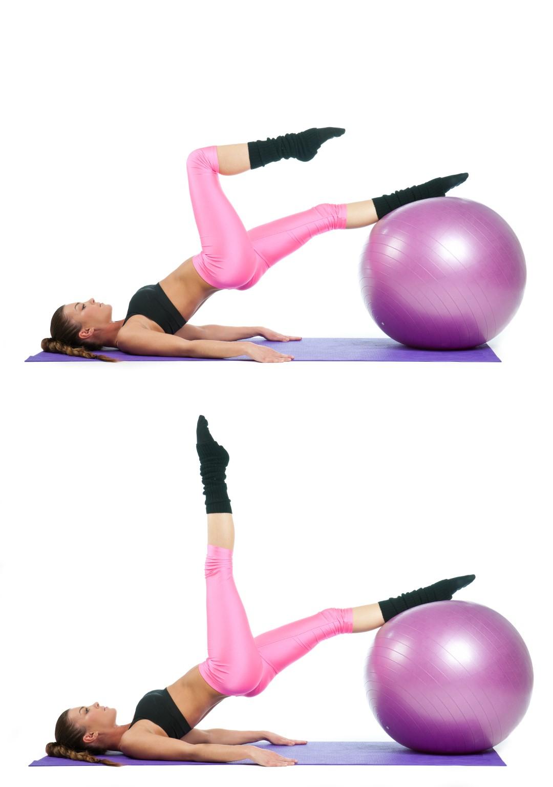 Exercitii cu mingea de gimnastica pentru abdomen