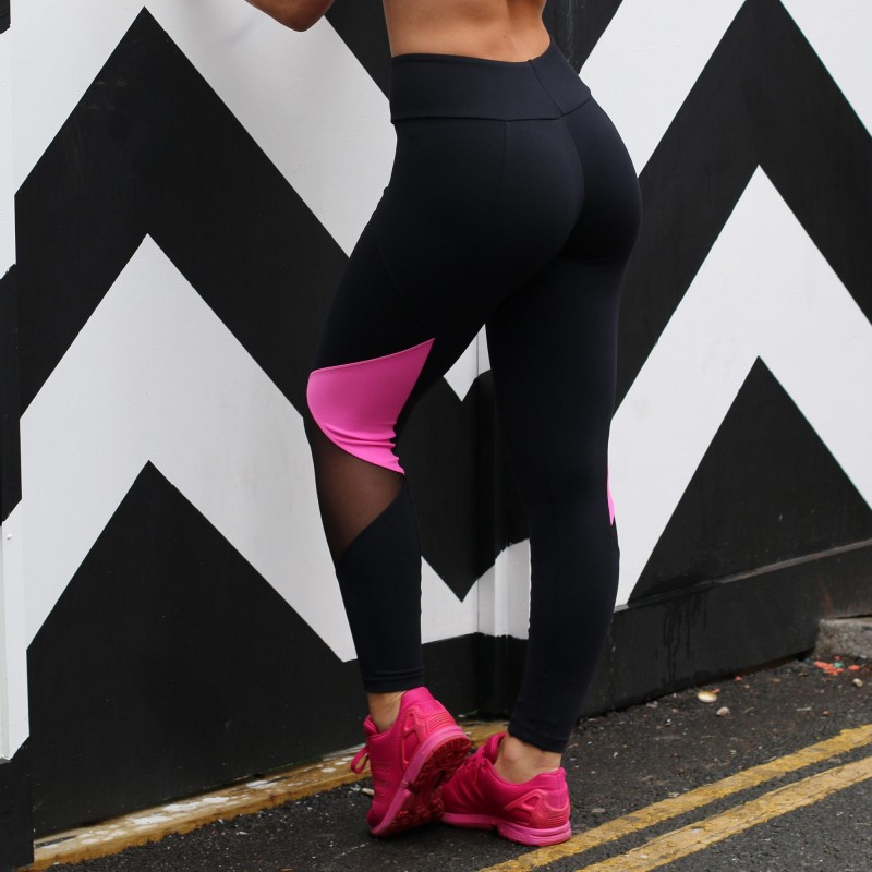 Legging Stephanie Black Pink Mesh